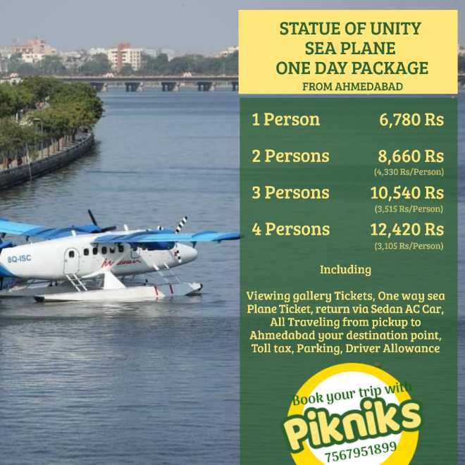 Statue of Unity Sea Plane One Day package