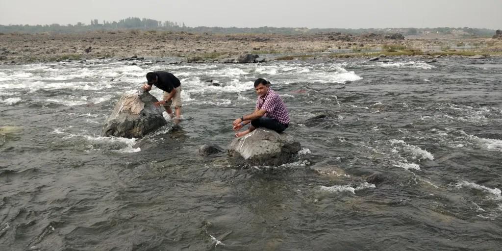 Mahi river at Riparian resort