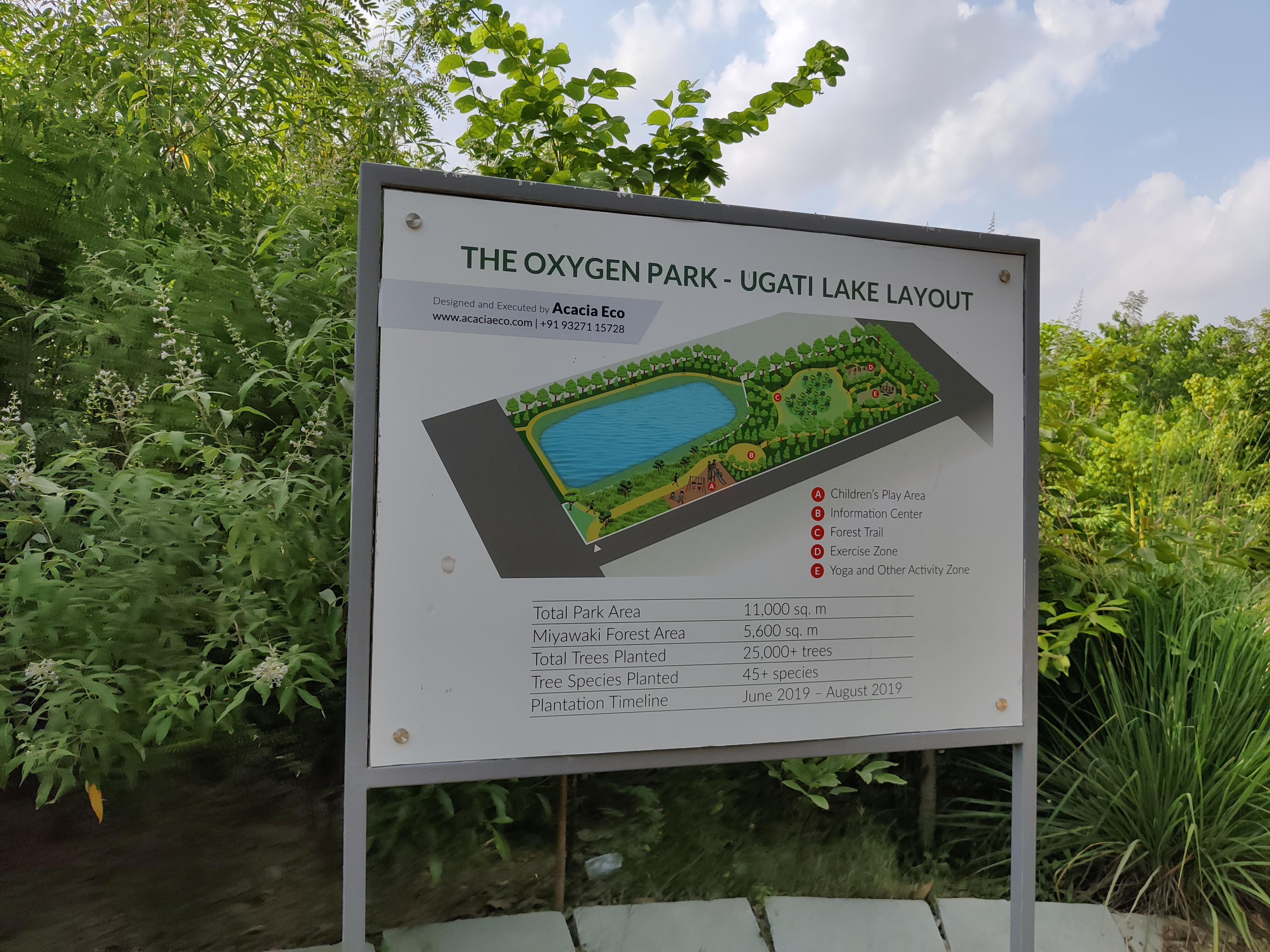 Map of ugati oxygen park