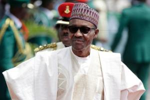 Nigerian President Muhammadu Buhari said Saturday that the Boko Haram extremist group has finally been crushed. (Sunday Alamba / Associated Press)