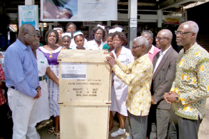 SDA Church making donation to the Kaneshie Polyclinic