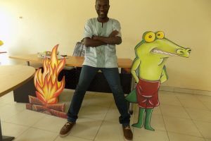 Cycil Jones Abban at his studio Parables Production.