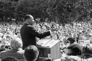 The Rev. Dr. Martin Luther King Jr. in Berkeley, Calif., in 1967. Credit Associated Press