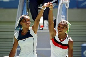 Venus Williams, left, and her sister Serena at the Australian Open in 1998. Credit Rick Stevens/Associated Press