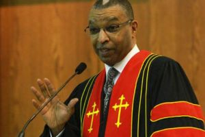 The Rev. DeForest B. Soaries Jr., senior pastor at First Baptist Church of Lincoln Gardens in Franklin.