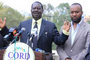 Cord leader Raila Odinga and Mombasa Governor Hassan Joho, who have left the country to attend the inauguration of Ghana president-elect Nana Akufo-Addo. PHOTO | JEFF ANGOTE | NATION MEDIA GROUP