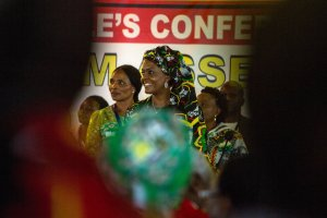 Grace Mugabe, center, at the opening of the Zimbabwe African National Union-Patriotic Front's annual congress last month in Masvingo, Zimbabwe. Credit Joao Silva/The New York Times