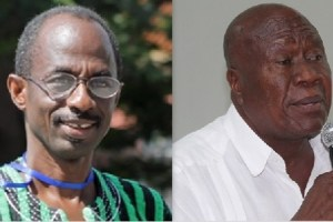 The General Secretary of the NDC, Asiedu Nketia (left) and the national Chairman, Kofi Portuphy.