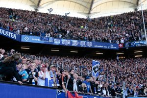 A crowd in 2015 framed a stadium clock that counts how long Hamburg has been a part of the Bundesliga. The clock notes an essential fact of Hamburg's identity: it is the only team that has played continuously in the Bundesliga since the league's inception in 1963. Credit Oliver Hardt/Bongarts, via Getty Images
