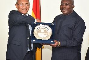 CAF President Ahmad and Dr Bawumia