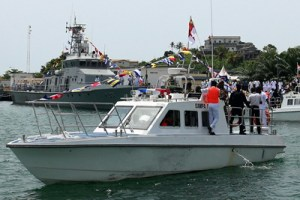 Chinese-donated patrol boat