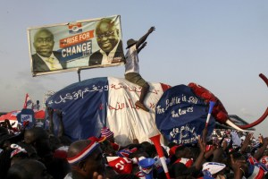Supporters of then Ghanaian Presidential Candidate Nana Addo Dankwa Akufo-Addo at a campaign rally last year in Accra
