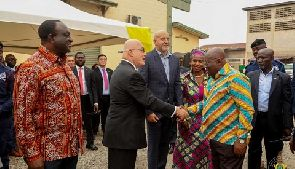 Akufo Addo with the US Ambassador Robert Jackson