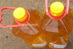 Some of the expired cooking oil that was distributed
