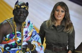 Melania Trump paid a courtesy visit to Osabarima Kwesi Atta ll