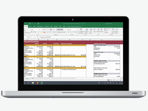 download your own customizable debt repayment spreadsheet