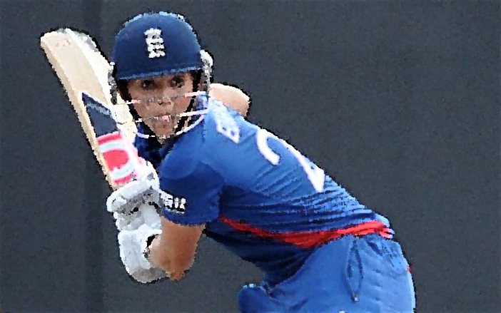 CRICKET-ICC-WORLD-T20-FINAL-WOMEN'S-ENG-AUS...England cricketer Charlotte Edwards (R) plays a shot as Australian wicketkeeper Jodie Fields looks on during the ICC Twenty20 Cricket World Cup's final match between Australia Women and England Women at the R. Premadasa International Cricket Stadium in Colombo on October 7, 2012. AFP PHOTO/Ishara S. KODIKARA (Photo credit should read Ishara S.KODIKARA/AFP/GettyImages)