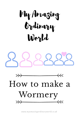 Post title: How to make a wormery.