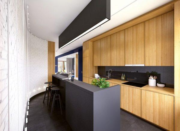 black and white wood kitchen design ideas Ultra Modern And Sleek Black And Wood Kitchens