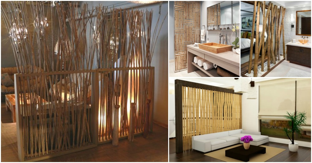 Bamboo Room Dividers For A Warm Look Of Your Home