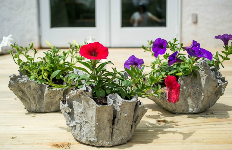 How To Make A Cement Cloth Planter In No Time  Page 2 of 2