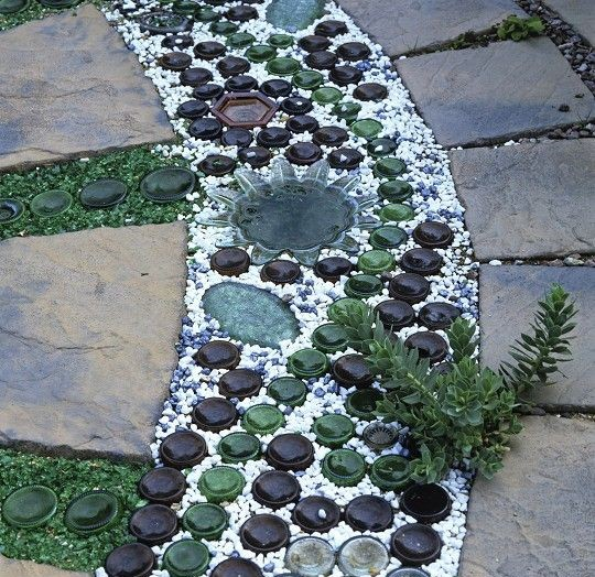 Amazing Bottle Paths For Your Garden