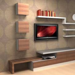 Simple Tv Wall Unit Designs For Living Room Color Schemes With Brown Couch Furniture 5 Modern 736 X 600