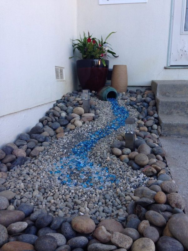 glass mulch landscaping ideas