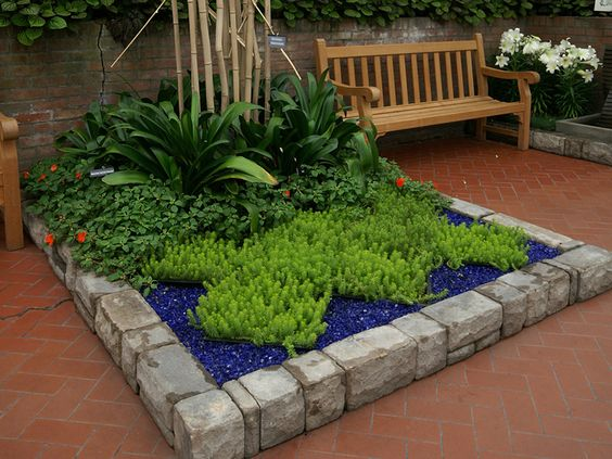 glass mulch landscaping ideas