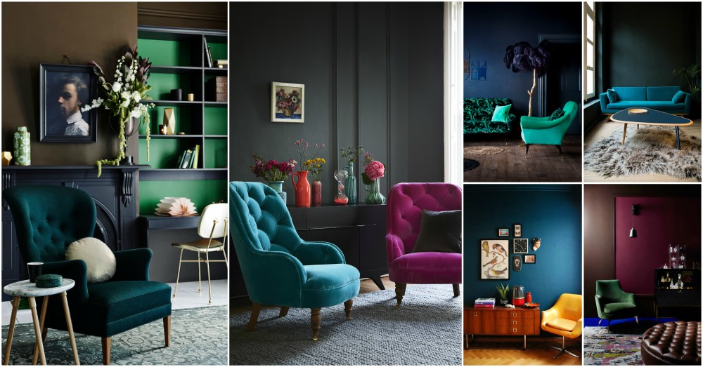blue living room furniture decorating ideas modern funky jewel tone interiors that show you how to implement this ...