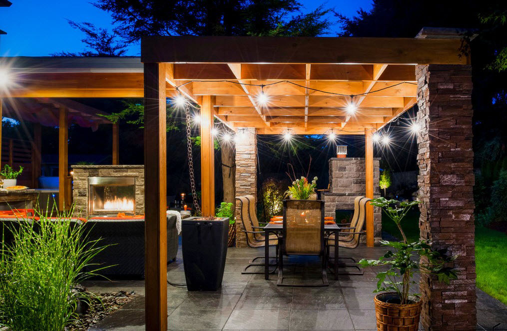Pergola String Lights Set A Romantic Mood In Your Backyard Page 2 Of 2