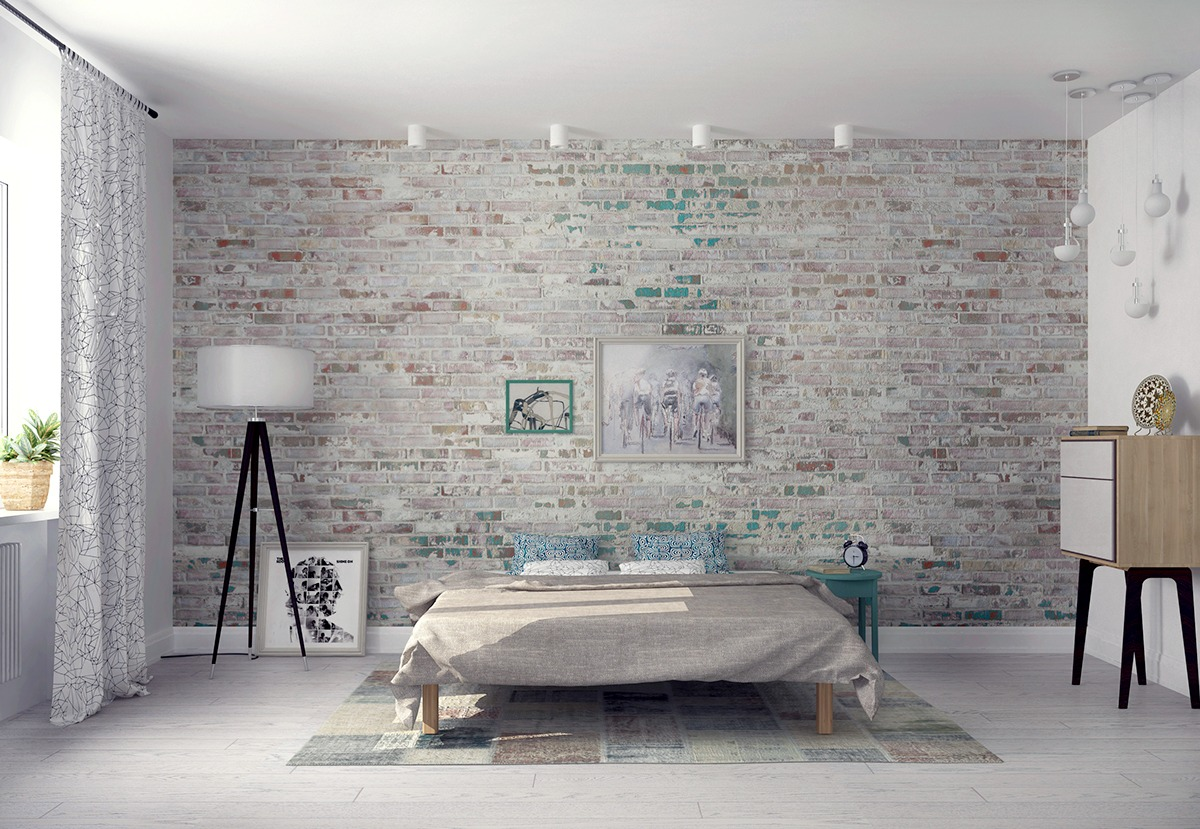 Dozens of inspiring ideas to decorate your living room, from countryliving.com. Whitewashed Brick Interior Is The Best Way To Add Texture