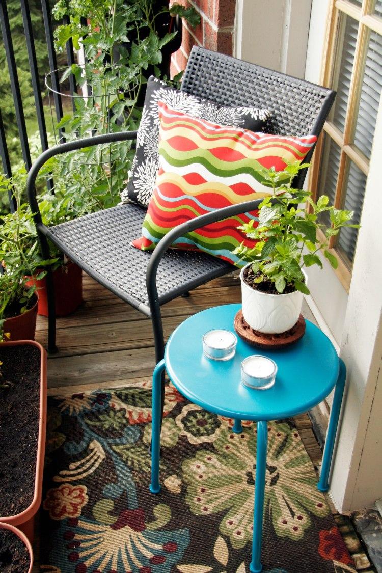 Small Balcony With A Tiny Decorative Table