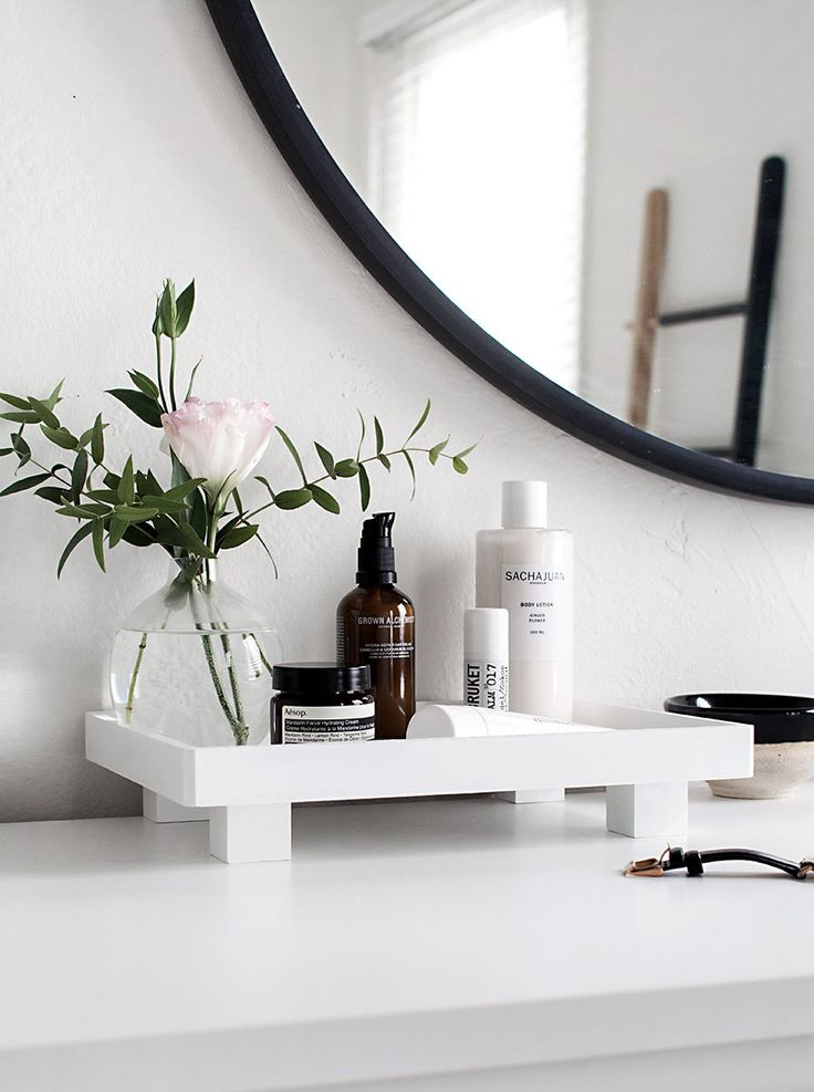 Bathroom Vanity Tray Ideas For Organizing In A Sleek Way