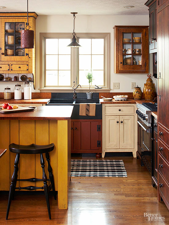 Mismatched Kitchen Cabinets Are A Good Way To Escape From