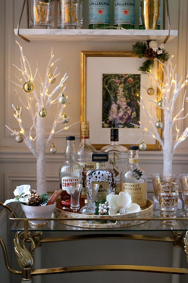 Christmas Bar Cart Ideas For Wishing A Warm Welcome To