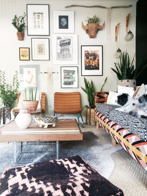 Bohemian Modern Living Room Ideas