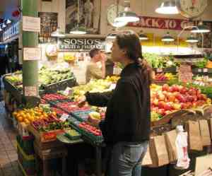 Fruit stand in Pike Place Market