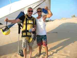 Malcolm Logan with Andy of Kitty Hawk Kites