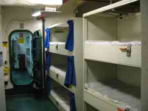 Crew quarters aboard the USS MIdway