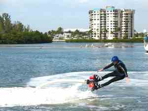 If you shift your weight to far back on a Flyboard you'll go over.