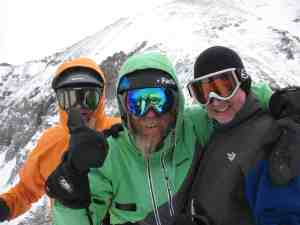 Don Palmer, Jaimé Palmer and Malcolm Logan at Telluride, Colorado