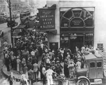 Bank run in the 1930's