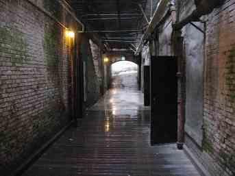 Alcatraz cold, damp and forbidding