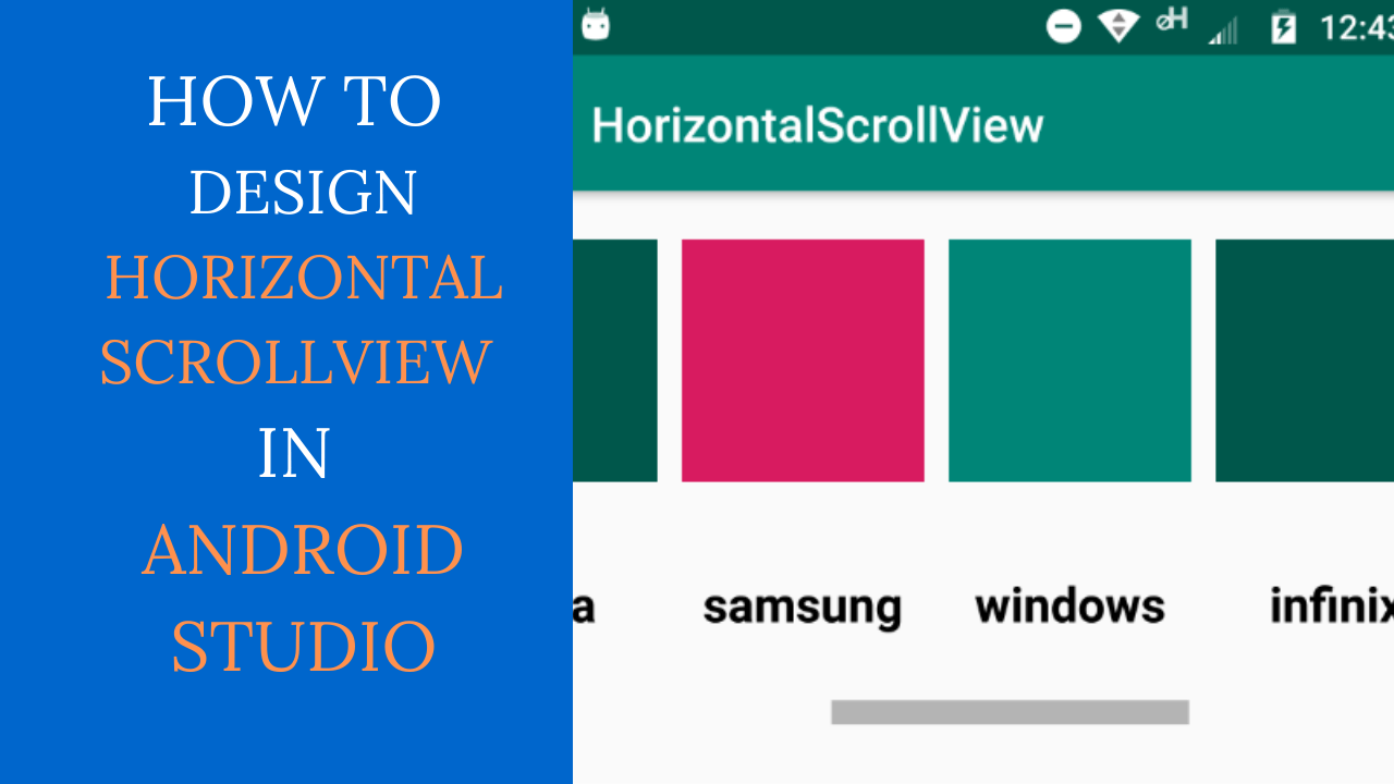Android Horizontal ScrollView Example: Horizontal Scroll View In Android
