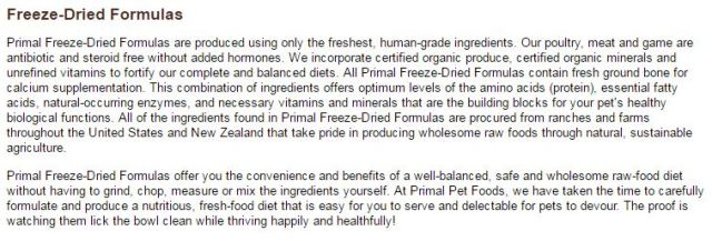freeze-dried formula