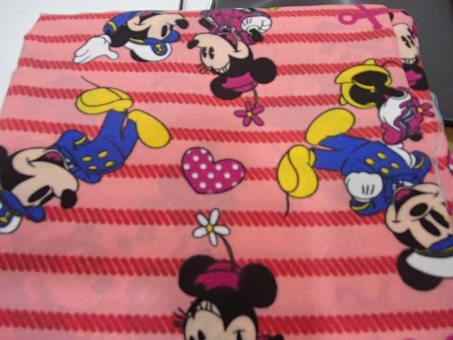 Mickey stripe peach