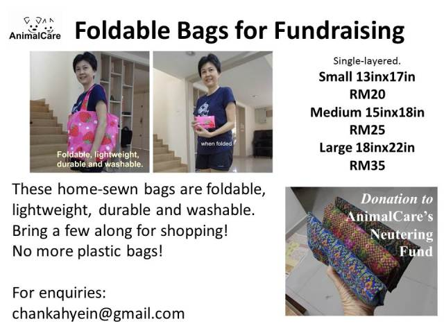Foldable Bags for fundraising