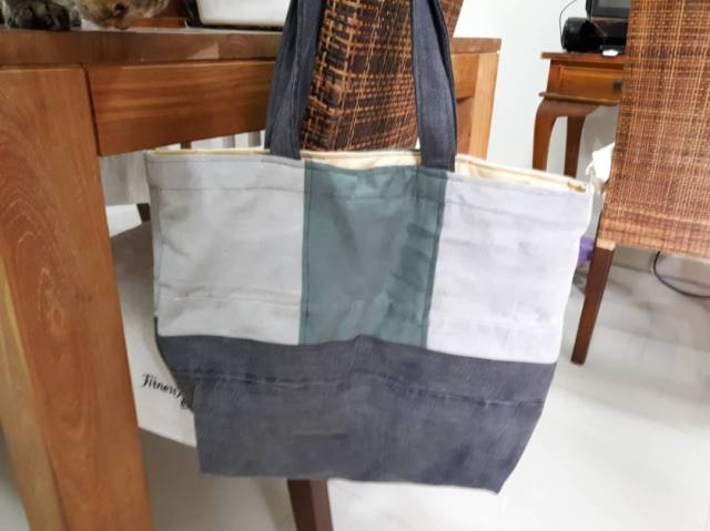 A Patched Denim Bag (fundraising)