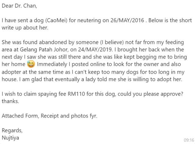Neutering Aid For 3 Dogs In Gelang Patah (Nujtiya Chareansouk's)